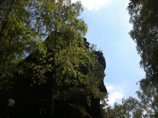 Kletterfelsen unterhalb von Burg Nideggen
