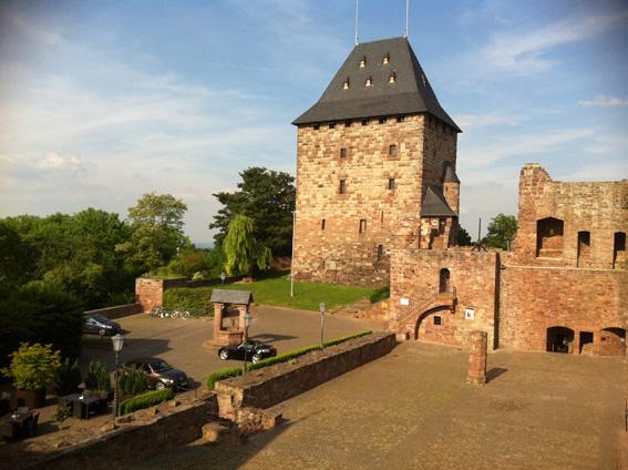 Burg Nideggen in der Abendsonne